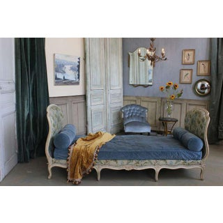 Small Louis XV Style Daybed With Floral Upholstery Preview