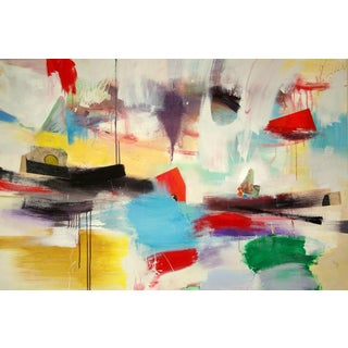 """""""Convergence"""" Contemporary Abstract Acrylic Painting by David Criner For Sale"""