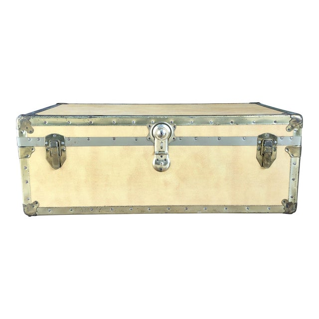 Remarkable 1930S Industrial Steamer Trunk Coffee Table Pdpeps Interior Chair Design Pdpepsorg