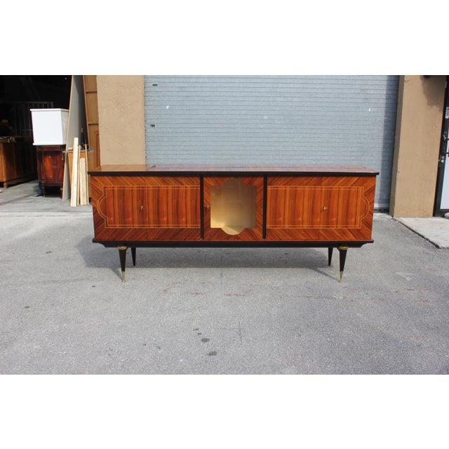 1940s Art Deco Light Macassar Ebony Sideboard / Buffet For Sale - Image 10 of 13
