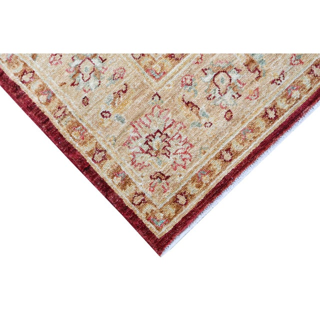 """Sultan Abad Afghani Hand Knotted Rug - 4' x 5'9"""" - Image 2 of 3"""