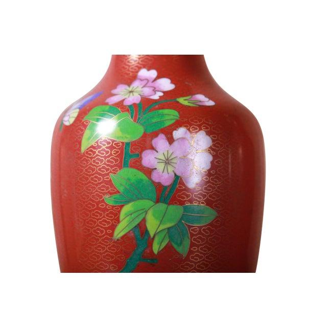 Vintage Chinese Cloisonne Enamel Floral Vases A Pair Chairish