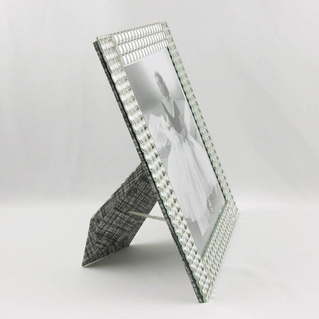 Impressive mirrored picture photo frame. Lovely sides build with tiny little domed square mirrors with metallic Kinetic...