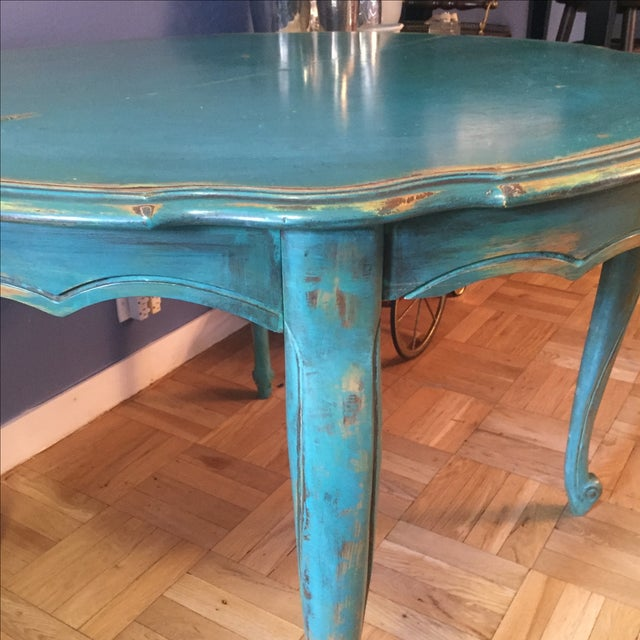 Vintage Distressed Dining Table - Image 4 of 7
