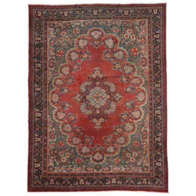 Blue Antique Persian Mahal Rug with Traditional Style For Sale - Image 8 of 8
