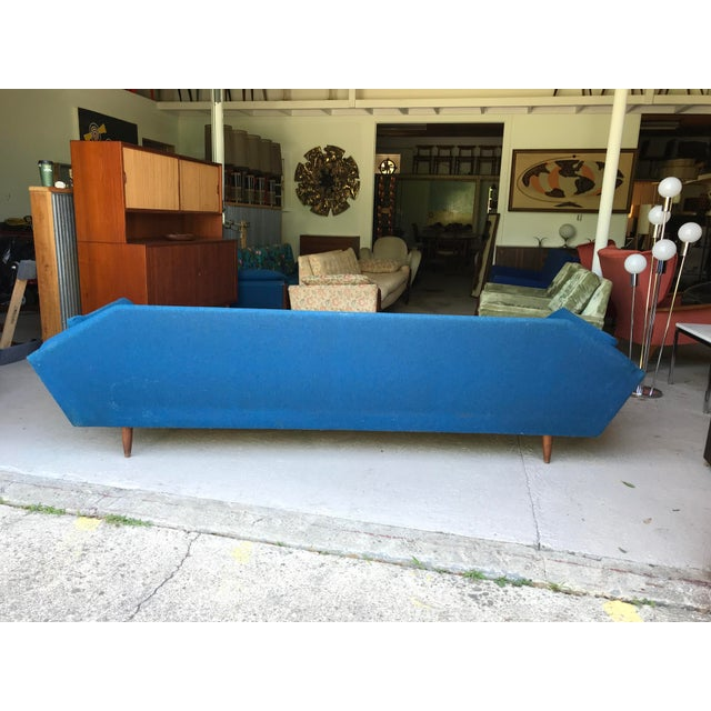 "Adrian Pearsall 101"" Adrian Pearsall Walnut Gondola Sofa Craft Associates For Sale - Image 4 of 13"