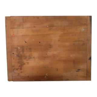 Vintage Large Wood Bread Cutting Board With Paint For Sale