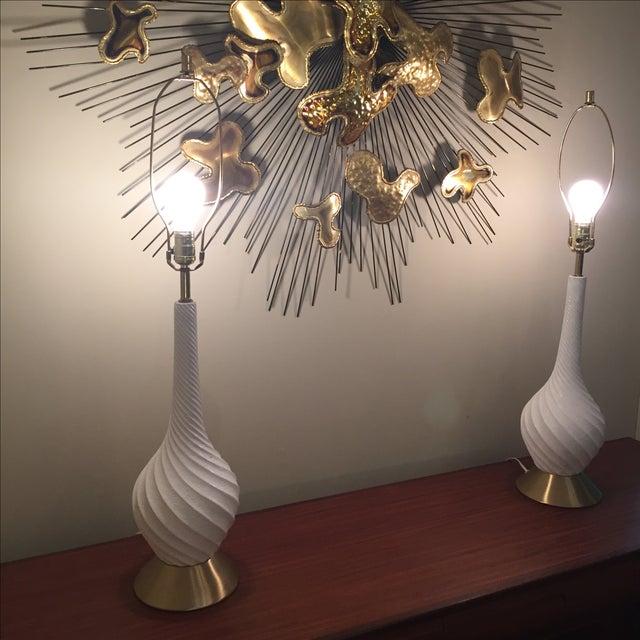 Quartite Creative Mid-Century Spiral Lamps - Pair - Image 3 of 5