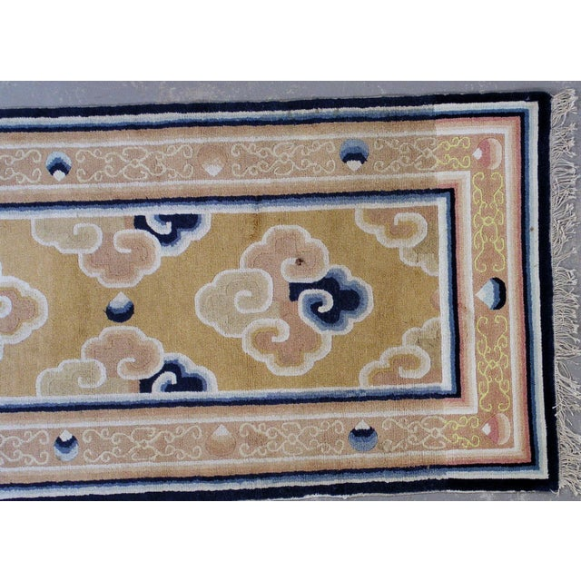 1880s Antique Collectible Chinese Ningsha Rug - 3′7″ × 6′8″ For Sale - Image 5 of 7