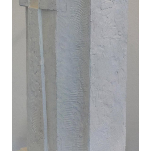 1970s Cubist Plaster Lamp For Sale - Image 5 of 6