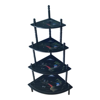 Chinoiserie 4-Tiered Pagoda Shelf For Sale