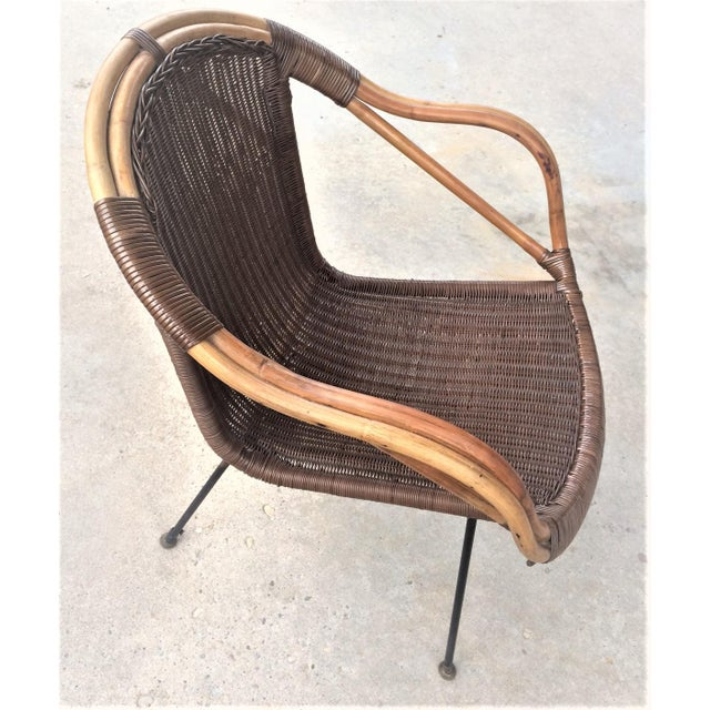 Mid-Century Rattan Chair - Image 4 of 6