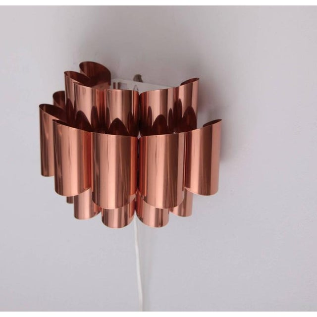 Mid-Century Modern Pair of Copper Sconces of Wall Lights by Verner Schou For Sale - Image 3 of 6