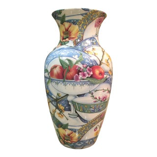 Flowers on the Seine Porcelain Urn For Sale