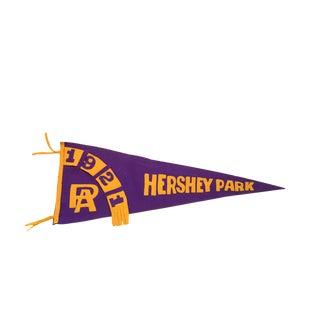 Antique 1921 Hershey Park PA Felt Flag