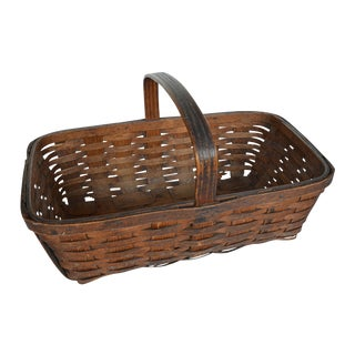 Vintage American Gathering Basket For Sale