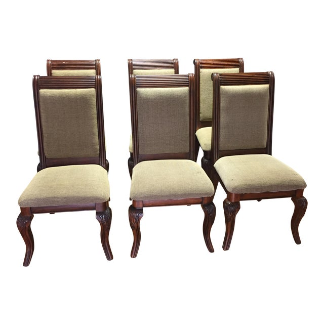 Lyre-Back Wooden Dining Chairs - Set of 8 - Image 1 of 11