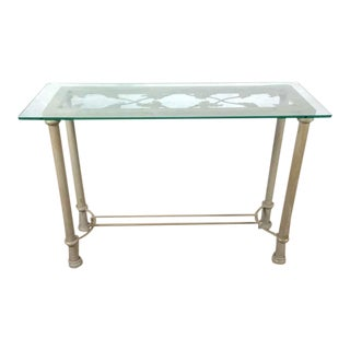 Glass Top Contemporary Console Table