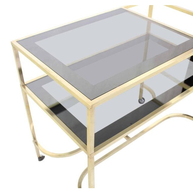 Nice Solid Brass Profile Serving Cart For Sale In New York - Image 6 of 10