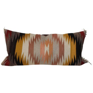 Navajo Indian Weaving Pastel Bolster Pillow For Sale