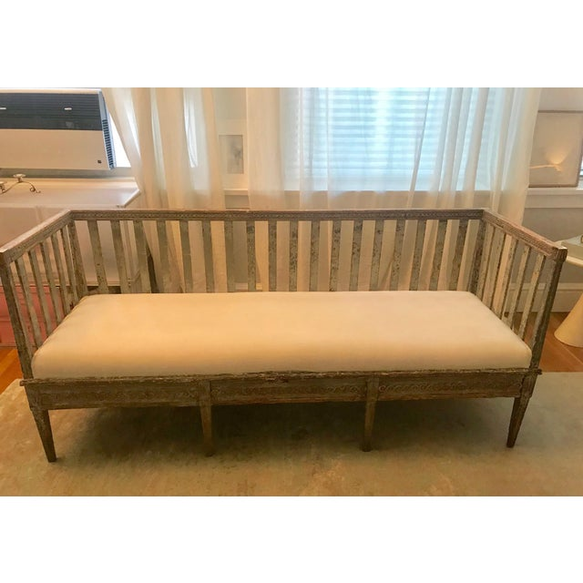 Early 19th Century Vintage Gustavian Bench For Sale - Image 4 of 13