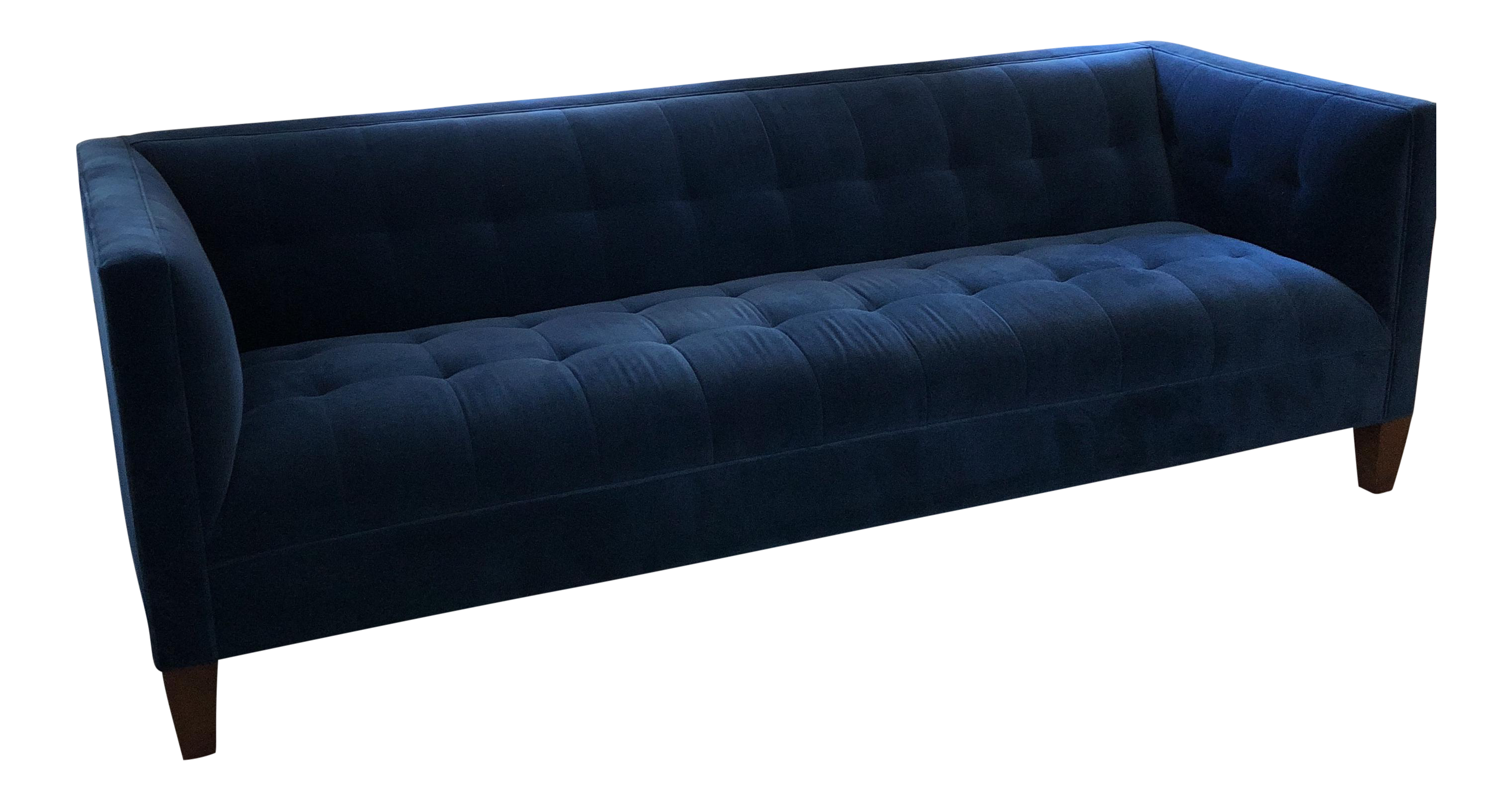 Beautiful Blue Mitchell Gold + Bob Williams Kennedy Sofa For Sale