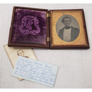Mid 19th Century Gutta Percha Box W/ Photo's & Contemporary Notes on Genealogy Preview