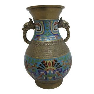 1960s Asian Cloisonne Vase/Urn For Sale