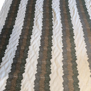 "Robert Allen ""Wavy Stitch"" in Sea Fabric-7.25 Yards For Sale"