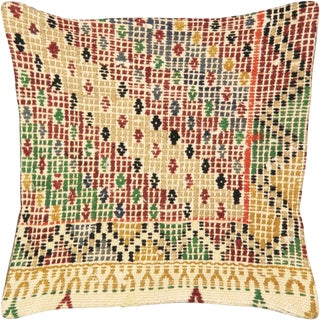 "1960s Turkish Cicim Pillow 16"" X 16"" For Sale"
