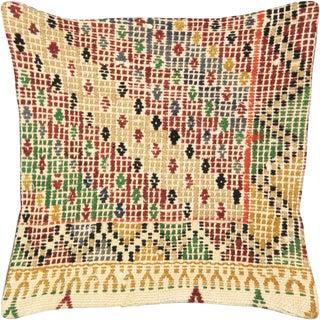 "Nalbandian - Turkish Cicim Pillow - 16"" X 16"" For Sale"