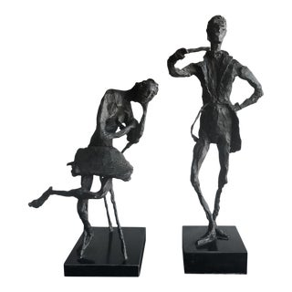 Giacometti Style Resin Sculptures - A Pair