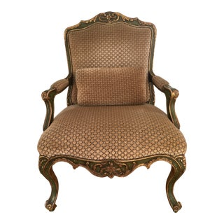 Vintage French Gilt Armchair For Sale