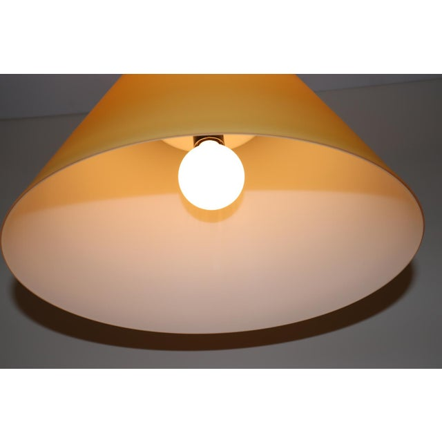 Mid-Century Modern Pendant Lamp by Carlo Nason for Itre Murano Amber Glass For Sale - Image 9 of 12