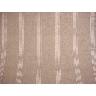 Vintage Ralph Lauren Indian Hill Ticking Stripe Linen Upholstery Fabric- 8-7/8 Yards For Sale