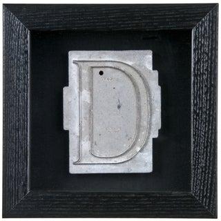Framed Mid Century Spacerite Steel Letter D
