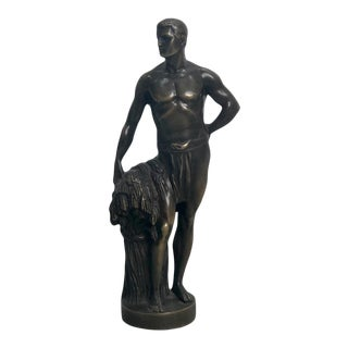 Bronze Figure of a Man, Circa 1900 For Sale