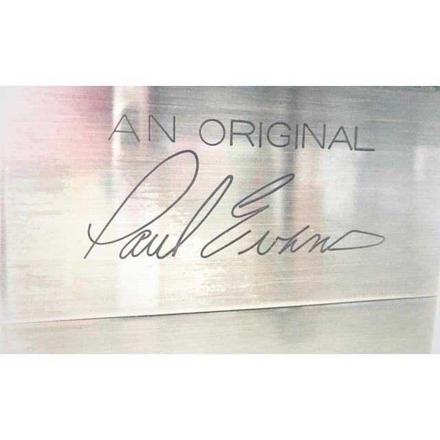 "Paul Evans Signed Original ""Cityscape"" Desk in Burl Walnut & Chrome For Sale - Image 11 of 11"