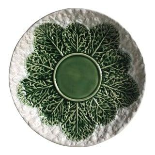 "Cabbage Leaf Majolica 13""Platter-Bordallo Pinheiro"