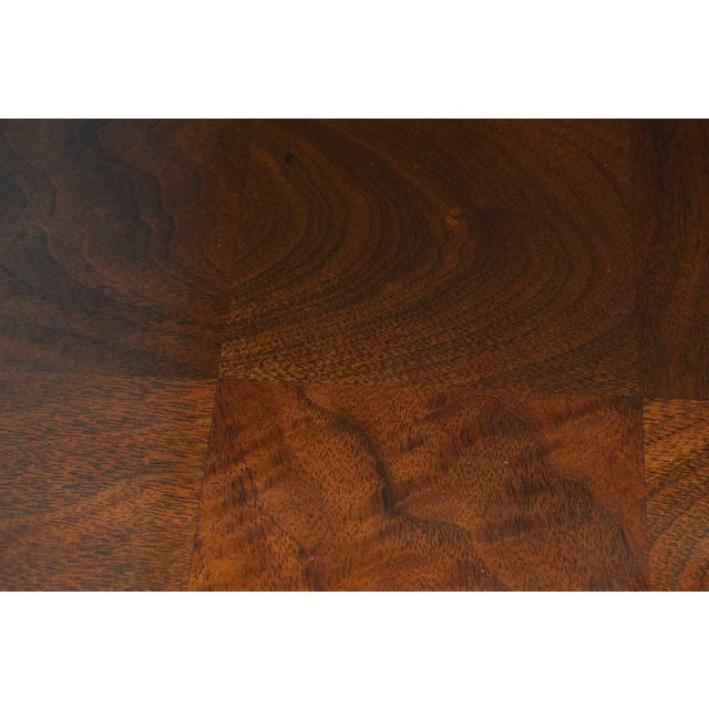 Milo Baughman Burl Wood Parquet Card or Dining Table For Sale - Image 9 of 13