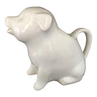Ceramic Piggy Milk Pitcher For Sale