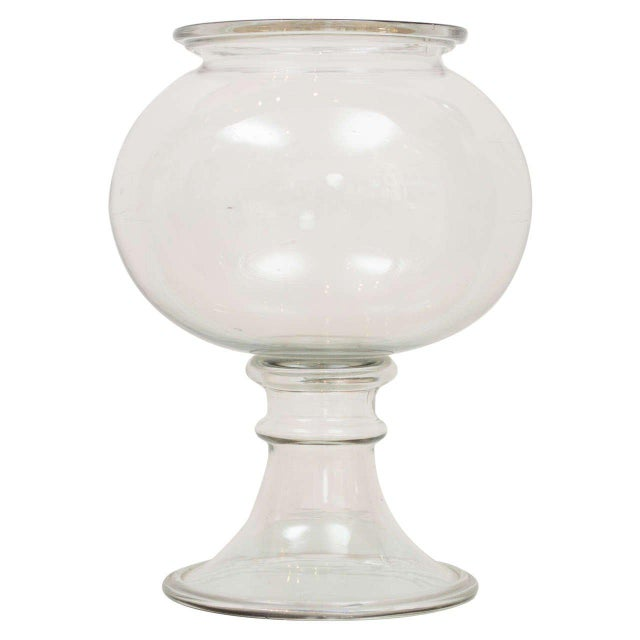 1800s Flint Glass Fishbowl For Sale - Image 9 of 9