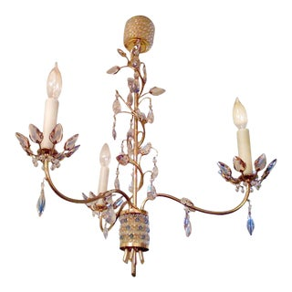 Jl Lobmeyr Colored Crystal Chandelier For Sale