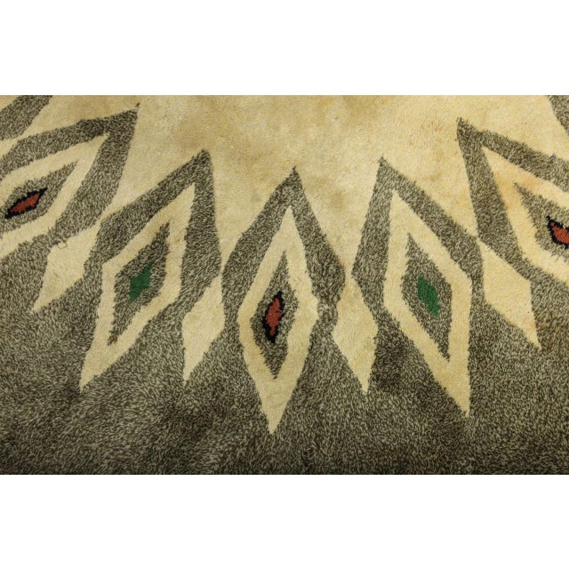 Green Leleu Art Deco Rug For Sale - Image 8 of 9