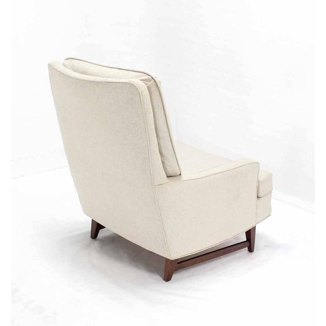 Mid 20th Century Vintage Mid Century Lounge Chair With Ottoman For Sale - Image 5 of 10