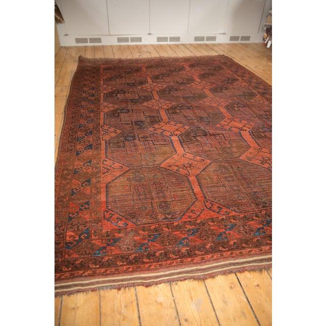 "1940s Vintage Ersari Carpet - 7'6"" X 11'4"" For Sale - Image 5 of 12"