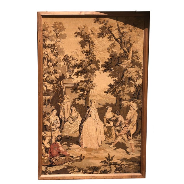 Sienna 19th Century French Tapestries - a Pair For Sale - Image 8 of 11