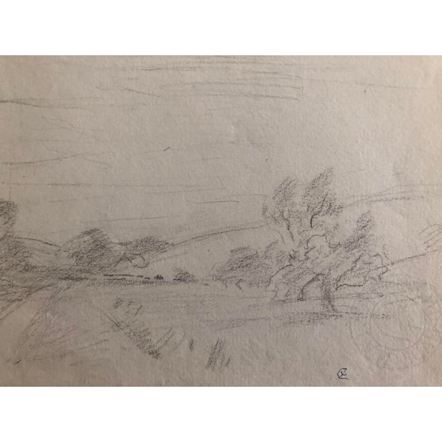 Plein air graphite drawing by Eliot Clark (1883-1980) probably painted/drawn during the 1930s near Kent, CT. From a group...