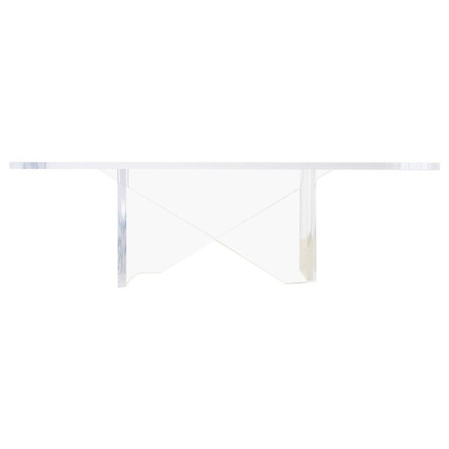 Monumental Italian Moderne Sculptural Lucite Dining Table For Sale - Image 13 of 13