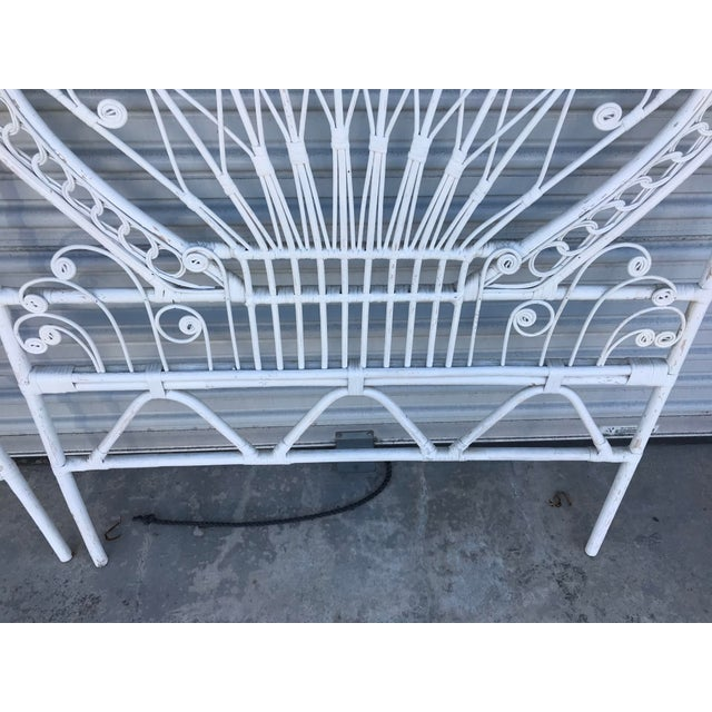 Wicker Vintage White Wicker Twin Headboards - a Pair For Sale - Image 7 of 8